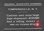 Image of seized drug shipment New York City USA, 1931, second 3 stock footage video 65675055146