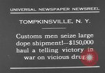 Image of seized drug shipment New York City USA, 1931, second 4 stock footage video 65675055146