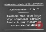 Image of seized drug shipment New York City USA, 1931, second 5 stock footage video 65675055146