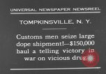 Image of seized drug shipment New York City USA, 1931, second 10 stock footage video 65675055146