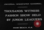 Image of fashion show Miami Beach Florida USA, 1931, second 1 stock footage video 65675055151