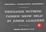 Image of fashion show Miami Beach Florida USA, 1931, second 2 stock footage video 65675055151