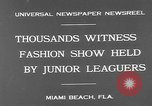 Image of fashion show Miami Beach Florida USA, 1931, second 5 stock footage video 65675055151