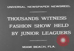 Image of fashion show Miami Beach Florida USA, 1931, second 7 stock footage video 65675055151