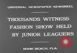 Image of fashion show Miami Beach Florida USA, 1931, second 9 stock footage video 65675055151