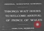 Image of Prince of Wales Hamilton Bermuda, 1931, second 2 stock footage video 65675055152