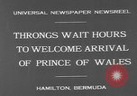 Image of Prince of Wales Hamilton Bermuda, 1931, second 7 stock footage video 65675055152