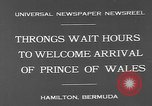 Image of Prince of Wales Hamilton Bermuda, 1931, second 8 stock footage video 65675055152