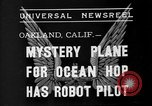 Image of Mystery plane Oakland California USA, 1935, second 2 stock footage video 65675055154