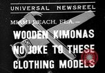 Image of fashion show Miami Beach Florida USA, 1935, second 1 stock footage video 65675055161