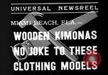 Image of fashion show Miami Beach Florida USA, 1935, second 3 stock footage video 65675055161