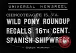 Image of wild ponies Chincoteague Island Virginia USA, 1939, second 5 stock footage video 65675055162