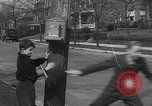 Image of fire alarm with manacle to discourage false alarms United States USA, 1935, second 9 stock footage video 65675055178