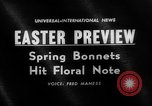 Image of Easter bonnets United States USA, 1962, second 1 stock footage video 65675055201