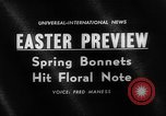 Image of Easter bonnets United States USA, 1962, second 3 stock footage video 65675055201