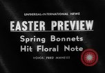 Image of Easter bonnets United States USA, 1962, second 4 stock footage video 65675055201