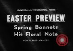 Image of Easter bonnets United States USA, 1962, second 5 stock footage video 65675055201