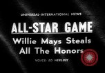 Image of Baseball All-star Game Cleveland Ohio USA, 1963, second 3 stock footage video 65675055206