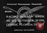 Image of race horse Time Clock Miami Florida USA, 1934, second 6 stock footage video 65675055213