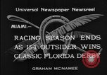Image of race horse Time Clock Miami Florida USA, 1934, second 7 stock footage video 65675055213