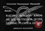Image of race horse Time Clock Miami Florida USA, 1934, second 9 stock footage video 65675055213