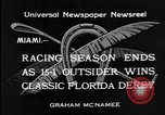 Image of race horse Time Clock Miami Florida USA, 1934, second 10 stock footage video 65675055213