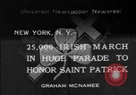 Image of parade New York City USA, 1934, second 1 stock footage video 65675055215