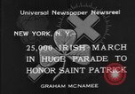 Image of parade New York City USA, 1934, second 5 stock footage video 65675055215