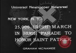 Image of parade New York City USA, 1934, second 6 stock footage video 65675055215