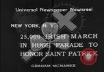 Image of parade New York City USA, 1934, second 7 stock footage video 65675055215