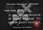 Image of parade New York City USA, 1934, second 8 stock footage video 65675055215