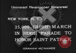 Image of parade New York City USA, 1934, second 10 stock footage video 65675055215