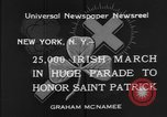 Image of parade New York City USA, 1934, second 11 stock footage video 65675055215