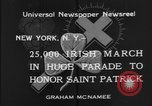 Image of parade New York City USA, 1934, second 12 stock footage video 65675055215