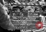 Image of interview of prisoners Dachau Germany, 1945, second 2 stock footage video 65675055227