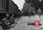 Image of American troops at outskirts of Dachau Concentration Camp Dachau Germany, 1945, second 10 stock footage video 65675055237