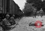 Image of American troops at outskirts of Dachau Concentration Camp Dachau Germany, 1945, second 11 stock footage video 65675055237
