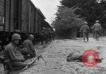 Image of American troops at outskirts of Dachau Concentration Camp Dachau Germany, 1945, second 12 stock footage video 65675055237