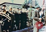 Image of liberation ceremony Dachau Germany, 1945, second 5 stock footage video 65675055258