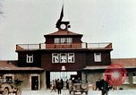 Image of Buchenwald Concentration Camp gate Ettersberg Germany, 1945, second 1 stock footage video 65675055279