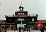 Image of Buchenwald Concentration Camp gate Ettersberg Germany, 1945, second 4 stock footage video 65675055279