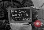 Image of German prisoners after Dachau liberation Bavaria Germany, 1945, second 2 stock footage video 65675055302
