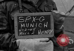 Image of German prisoners after Dachau liberation Bavaria Germany, 1945, second 3 stock footage video 65675055302