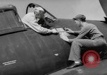 Image of Japanese flag painted on aircraft to record aerial victory Pacific Ocean, 1945, second 3 stock footage video 65675055307