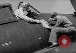Image of Japanese flag painted on aircraft to record aerial victory Pacific Ocean, 1945, second 9 stock footage video 65675055307