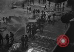 Image of burning TBF Avenger Pacific Ocean, 1945, second 8 stock footage video 65675055312