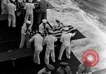 Image of Mass Funeral Ceremony Pacific Ocean, 1945, second 3 stock footage video 65675055313