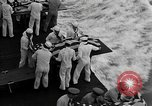 Image of Mass Funeral Ceremony Pacific Ocean, 1945, second 4 stock footage video 65675055313