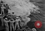 Image of Mass Funeral Ceremony Pacific Ocean, 1945, second 8 stock footage video 65675055313