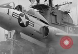 Image of Cockpit of F7U on catapult Pacific Ocean, 1954, second 8 stock footage video 65675055314